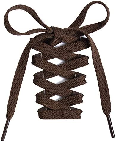 Handshop Flat Shoelaces 5 16 Shoe Laces Replacements For Sneakers and Athletic Shoes Boots Brown product image