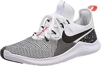 Nike Women's Free Tr 8 White/Black - Total Crimson Ankle-High Fabric Training Shoes 6.5M