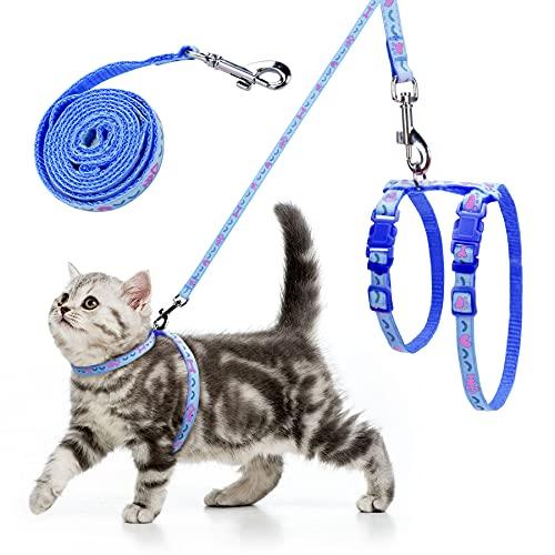 Guinzaglio Gatto - pettorina per cuccioli pettorine per gatti Imbracatura per Gatti Piccoli Regolabile guinzaglio set con guinzaglio Regolabile Ultra-Leggero Morbido per Passeggio, Corsa