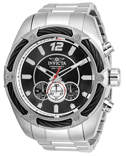 Invicta Men's Bolt Quartz Watch with Stainless Steel Strap, Silver, 26 (Model: 31464)