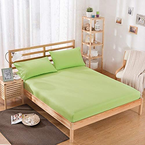 UKUCI 1pcs 100% polyester solid bed mattress set with four corners and elastic band sheets (pillowcases need order),guolv,75X200X10cm