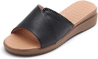 N / A wigvormige sandalen, moeder pantoffels, vrouwen dragen in de zomer buiten platte middeleeuwen