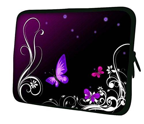 Luxburg® 10' Custodia Morbida per PC Portatili Laptop Notebook ebook Reader e Tablet - Artwork con Farfalle