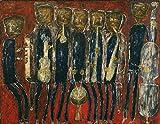 Jean Dubuffet Grand Jazz Band c12226 A4 Canvas - Estirado, listo para colgar (12/8 inch)(31/20 cm) - Película Película Decoración de pared Arte Actor Actriz Regalo Anime Auto Cinema Room Decoración