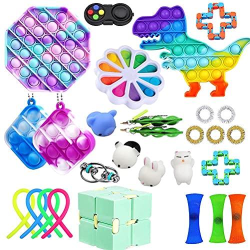 Eeauytr Sensory Fidget Toys Set per alleviare lo stress e l'ansia autismo per bambini e adulti, ricompense scolastiche, premi di carnevale, riempitivi per sacchetti Goodie