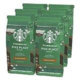 Starbucks Pike Place Chicchi Interi di Caffè Dalla Tostatura Media 6 Sacchetti da 200 g