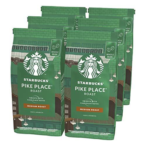 Starbucks Pike Place Roast Medium Roast Coffee Beans 200 g Bag (Pack of 6)