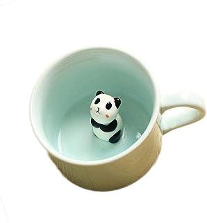 3D Panda Mug Animal CERAMIC Coffee cup Cute Cartoon Morning Office Mugs 300ml