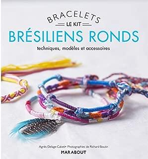 Bracelets brésiliens ronds : Avec 20 mètres de fils de coton, 1 plume, 1 charm et un livret