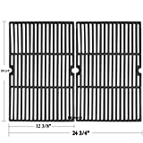 Hisencn 19.25 inch Cast Iron Grill Grates for Jenn Air 720-0061-LP, 720-0336, Nexgrill Models: 720-0033, BBQ Grillware GGPL-2100 Gas Grill, 19 1/4' Cooking Grids