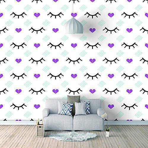 3D Fotomurales Pestañas abstractas Papel pintado mural techo Salón Dormitorio Despacho Pasillo Decoración murales decoración de paredes Tamaño personalizado-200X140cm (78x55inch)