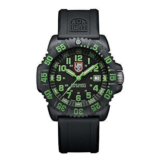 Luminox Sea Navy Seal Colormark 3050 Men's Green Arabic Numerals Watch A.3067