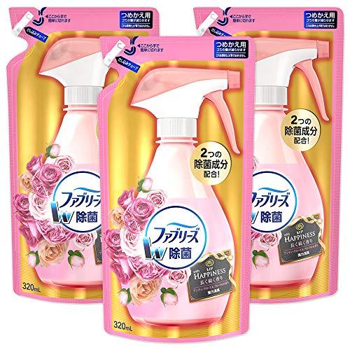 【まとめ買い】ファブリーズ with レノアハピネス 除菌消臭スプレー 布用 アンティークローズ&フローラルの香り 詰め替え 320mL×3個
