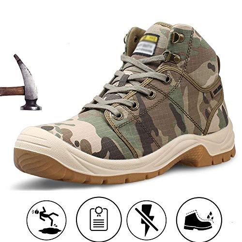 XLYAN stalen teen veiligheidsschoenen werk Sneakers Anti-mijt Punctuur slijtage herfst en winter ademende Deodorant lichtgewicht zachte bodem veiligheidsschoenen elektrische isolatie schoenen