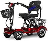 Silla de Ruedas eléctrica, Vespa ancianos, las cuatro ruedas Scooter eléctrico, Adulto de edad avanzada Vespa, plegable de cuatro ruedas de la bicicleta especial for personas de movilidad reducida, co