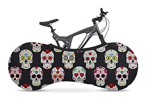 Velo Sock Skulls Bike Cover Unisex-Adult, Compatible avec 99% des vélos