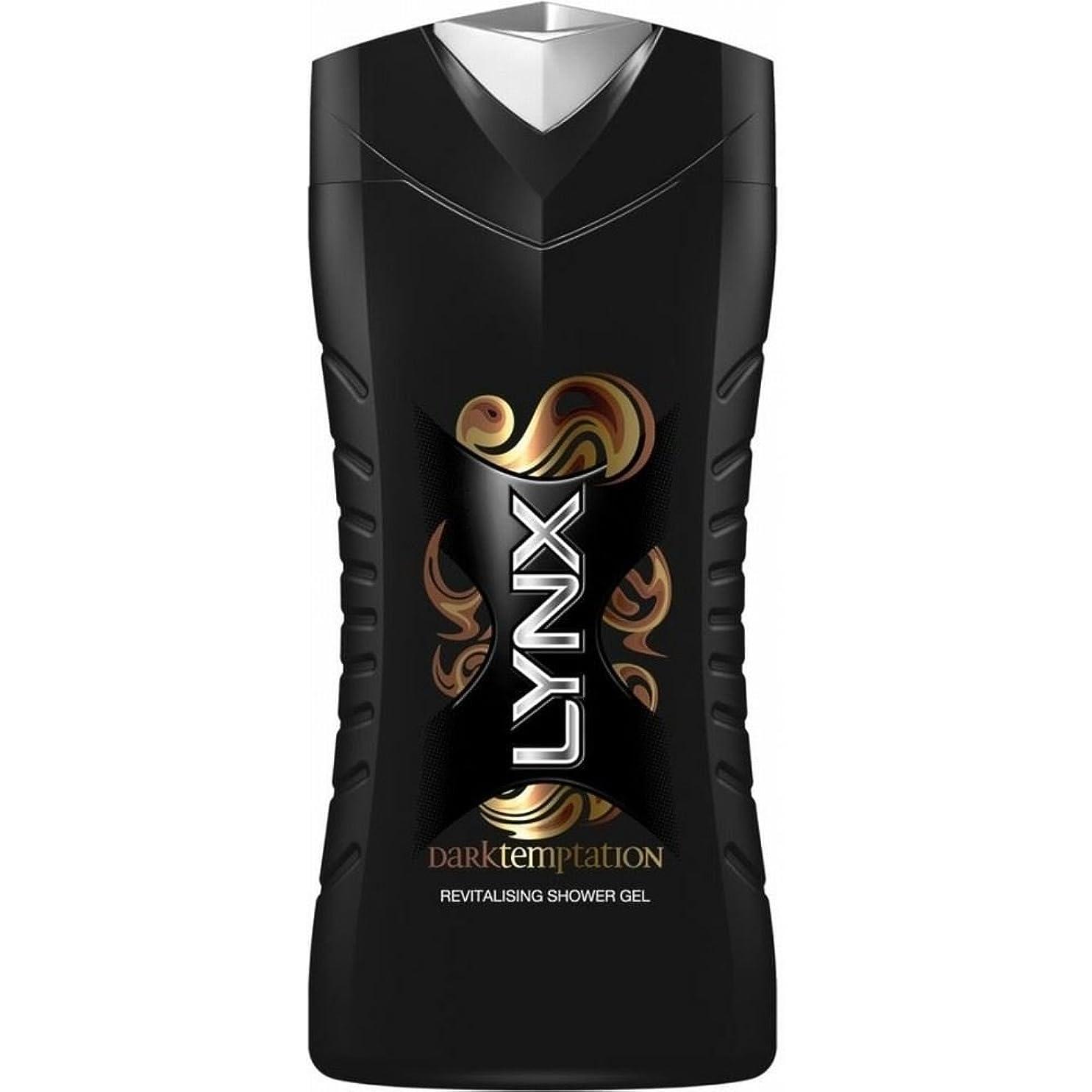 スライスピーブ悔い改めるLynx Shower Gel - Dark Temptation (250ml) オオヤマネコのシャワージェル - ダーク誘惑( 250ミリリットル)