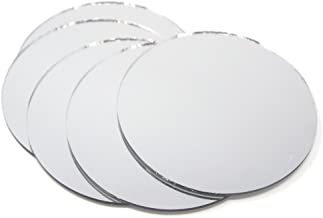 Homeford Round Mirror Table Scatter, 4-Inch, 5-Count