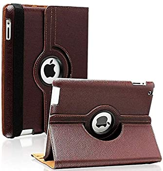 iPad 2/3/4 Case - 360 Degree Rotating Stand Smart Case Protective Cover with Auto Wake Up/Sleep Feature for Apple iPad 4 iPad 3 & iPad 2  Brown