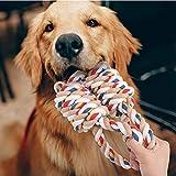 犬おもちゃ 犬用噛むおもちゃ玩具 犬ロープおもちゃ 中型犬 大型犬 ペット用 犬噛むおもちゃ 丈夫 天然コットン ストレス解消 運動不足解消 耐久性 清潔 歯磨き