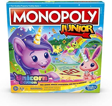 Monopoly Junior Unicorn Edition Board Game for 2 4 Players Magical Themed Indoor Game for Kids product image