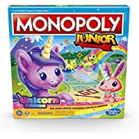 Monopoly Junior: Unicorn Edition Board Game for 2-4 Players