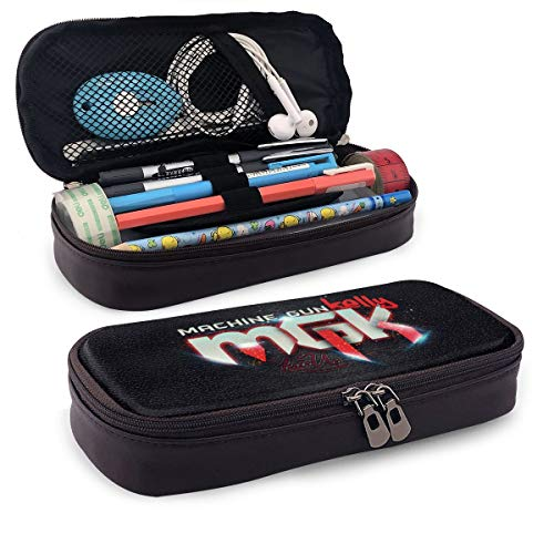 NFEMNEO M_Gk Lace_Up Leather Pencil Case Pen Holder School Student Stationery Storage Bag Office Organizer Pouch Box