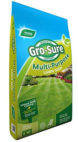 Gro-Sure Multi-Purpose Grass Lawn Seed, 300 m2, 9 kg