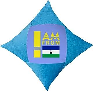 OFFbb-USA I Am from Lesotho - Funda de almohada para cama de coche, color azul