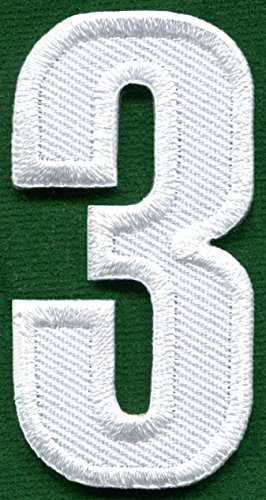 embroidered number 3 - 7