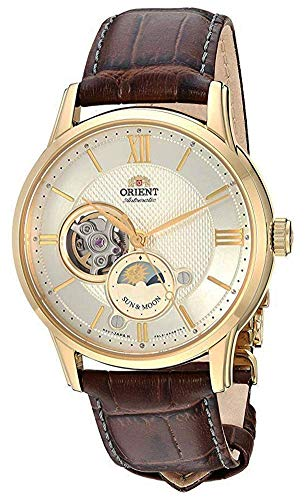 "Orient Dress ""Sun & Moon Open Heart"" Japanese Automatic/Hand Winding Stainless Steel Watch (Model: RA-AS0004S10A)"
