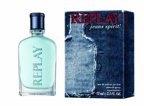 Replay Jeans Spirit Man homme/ men, Eau de Toilette, Vaporisateur/ Spray, 75 ml