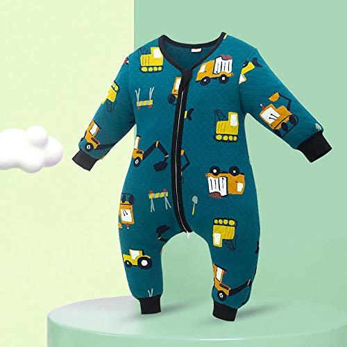 Saco de Dormir de Algodón Bio para Bebés,Saco de Dormir para bebé con piernas Abiertas,edredón Infantil Anti-Retroceso de algodón Puro-D_90,Saco de Dormir para Bebé Confortable
