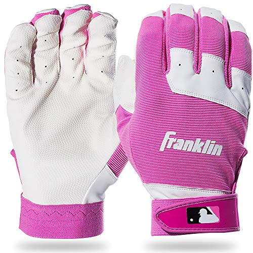Franklin Sports Youth Flex Guanti da battitore, Unisex, White/Pink