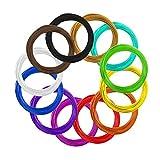 AKNMSOY - Filamento 3D para Pluma de impresión, 12 colores, 1,75 mm, 10 pies...