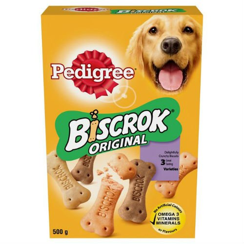 Pedigree Biscrock Original Crunchy Biscuits Hunde-Leckerli, 500 g, 6 Stück