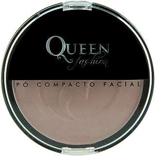 Pó Facial Compacto Escuro, Queen Fashion, 5