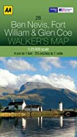 Aa Ben Nevis, Fort William & Glen Coe Walker's Map