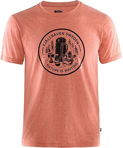 FJALLRAVEN Fikapaus M T-Shirt pour Homme S Multicolore (Rowan Red-Melange)