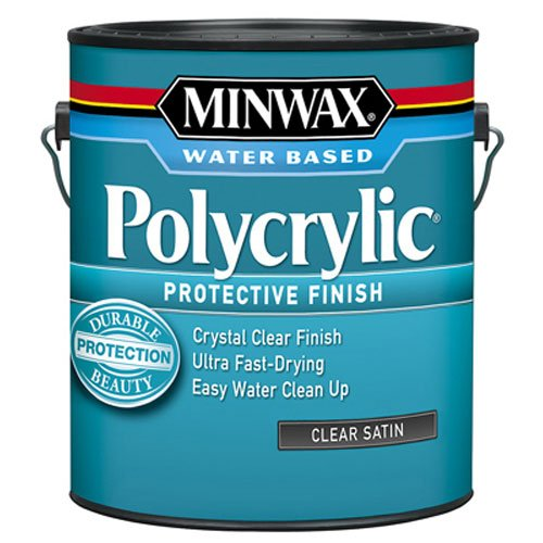 Minwax 13333000 Polycrylic Water-Based Protective Clear Finish, 1 gallon, Satin