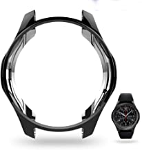 JZK Samsung Gear S3 Galaxy Watch 46mm Screen Protector Accessories, Shock-Proof Protective Shell TPU Cover Case for Samsung Gear S3 Frontier/Classical Galaxy Watch 46mm Smartwatch,Black
