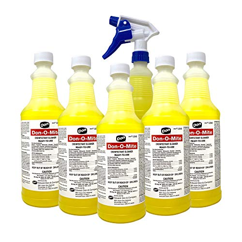 Liquid Disinfectant Cleaner Don-O-Mite 32 OZ. With Trigger Sprayer included. (6)
