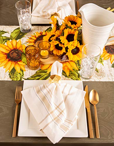 DII Rustic Sunflower Table Runner for Everyday, Special Occasions, Dinner Parties, Weddings, Barbeques & Picnics, 14x72