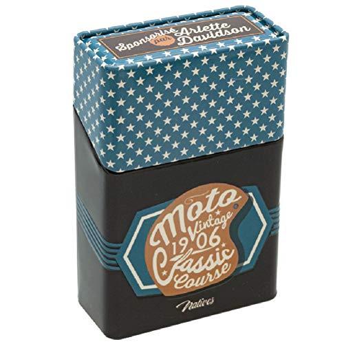 NATIVES Etui à Paquet de Cigarettes - Moto Vintage Porte-Cigarettes, 10 cm, Multicolore