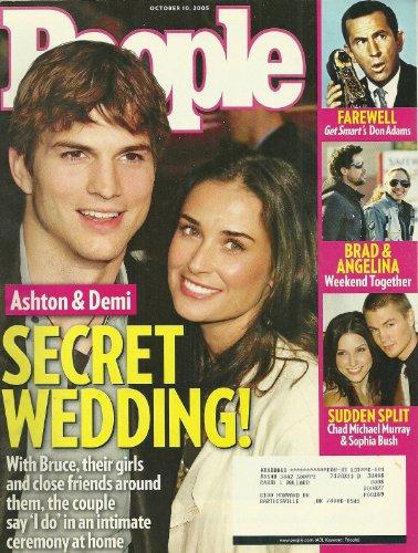 Ashton Kutcher and Demi Moore, Chad Michael Murray and Sophia Bush, Brad Pitt and Angelina Jolie, Don Adams (Get Smart) - October 10, 2005 People Magazine