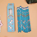 XLEIQUISHJ Estudiante 12pcs / Set Lindo Kawaii Dibujos Animados Unicornio lápiz Media PENSIÓN Sketch Drawing Study School School Office Supplies Gift Gift Pen Class (Color : Blue)