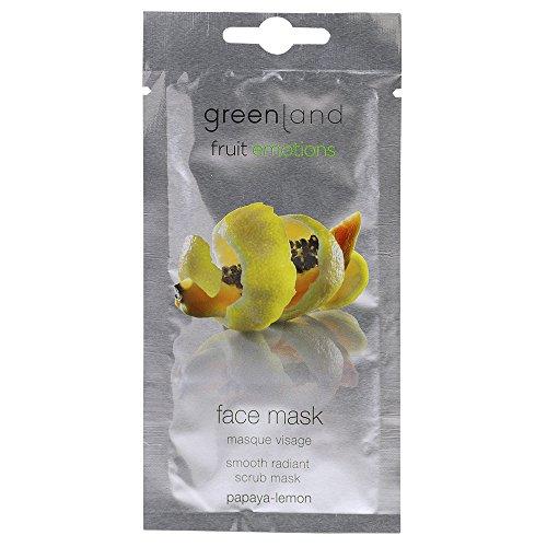Greenland Gesichtsmaske mit Papaya Zitrone | Verwöhnende Pflege für stumpfe & trockene Haut | 100% Vegane Peelingmaske mit Bambus Körnchen
