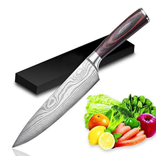 UniqueFire Couteau de Cuisine, Professionnelle 20 cm...