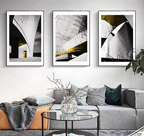 3-teiliges Modekunstplakat/Kunstdruck auf Leinwandmotiv Nordische Wandbilder für Wohnzimmerdekoration rahmenlos 35 x 50 x 3