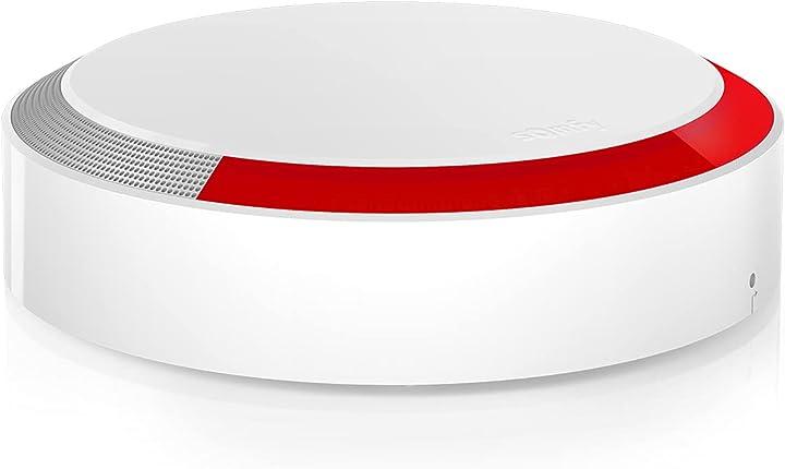 Sirena esterna antifurto wireless collocamento esterno casa con rilevamento effrazioni somfy 2401491A